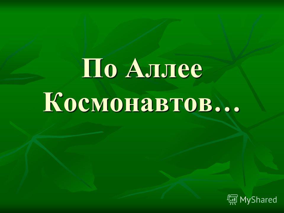 По Аллее Космонавтов…
