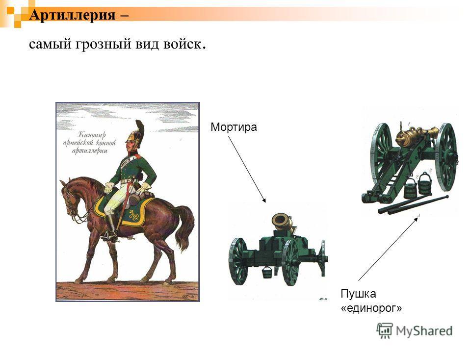Артиллерия – самый грозный вид войск. Пушка «единорог» Мортира