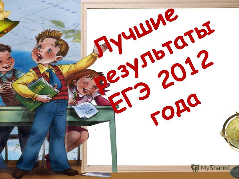 Лучшие результаты ЕГЭ 2012 года