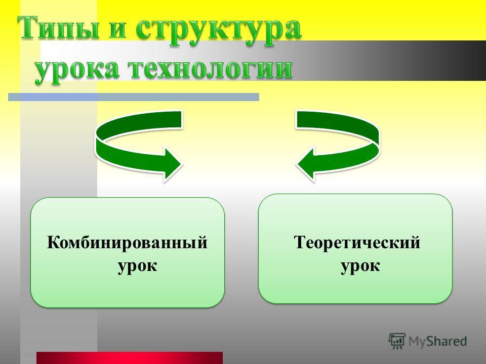 Комбинированный урок Теоретический урок