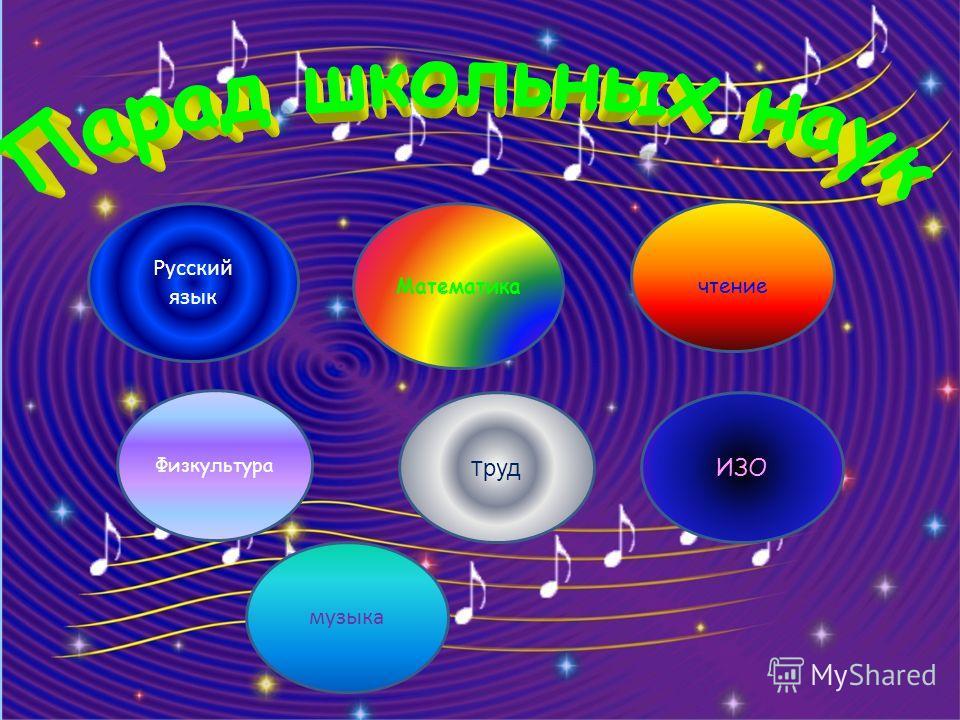Математика Т руд Физкультура чтение Русский язык музыка ИЗО
