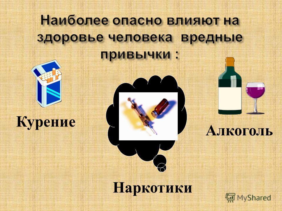 Наркотики Курение Алкоголь