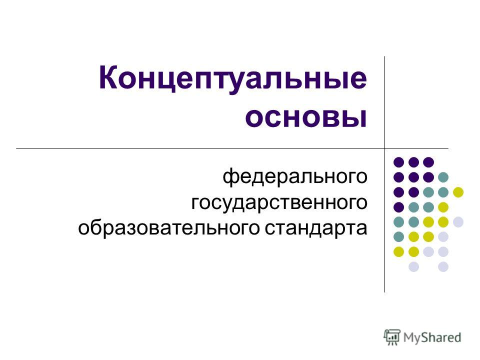 Концептуальные основы федерального государственного образовательного стандарта
