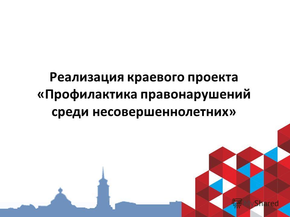 Реализация краевого проекта «Профилактика правонарушений среди несовершеннолетних»
