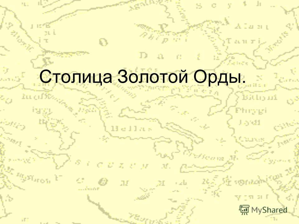 Столица Золотой Орды.