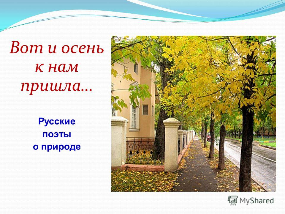Вот и осень к нам пришла… Русские поэты о природе
