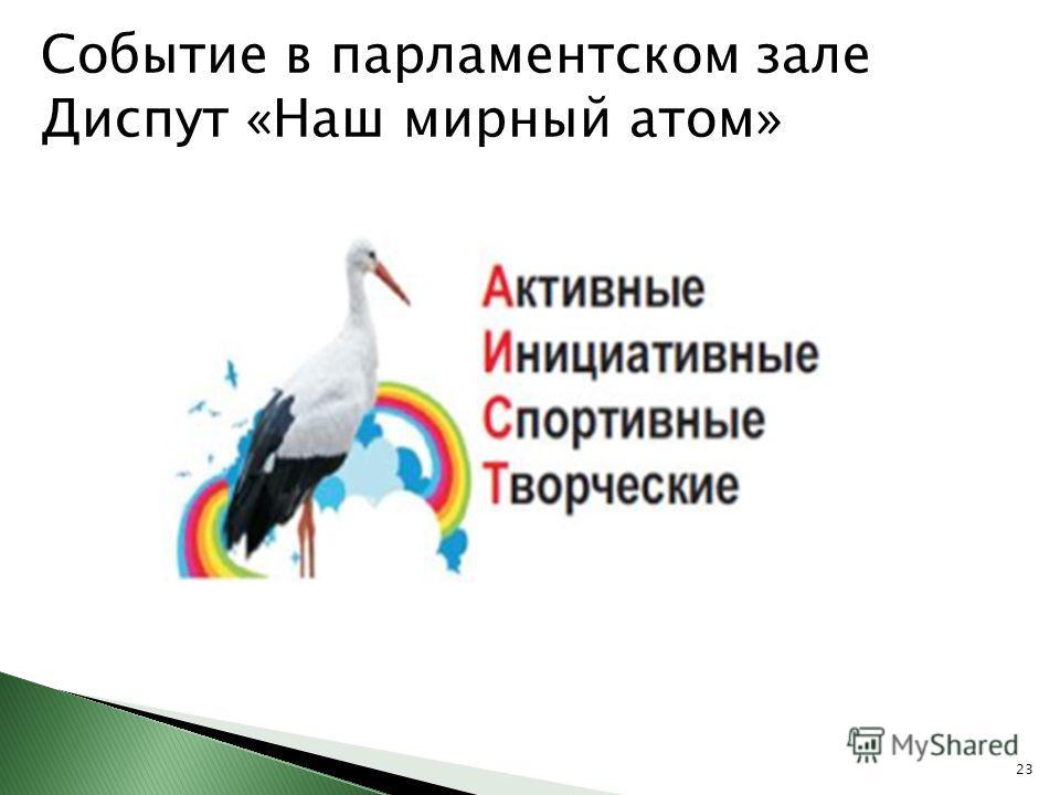 Событие в парламентском зале Диспут «Наш мирный атом» 23