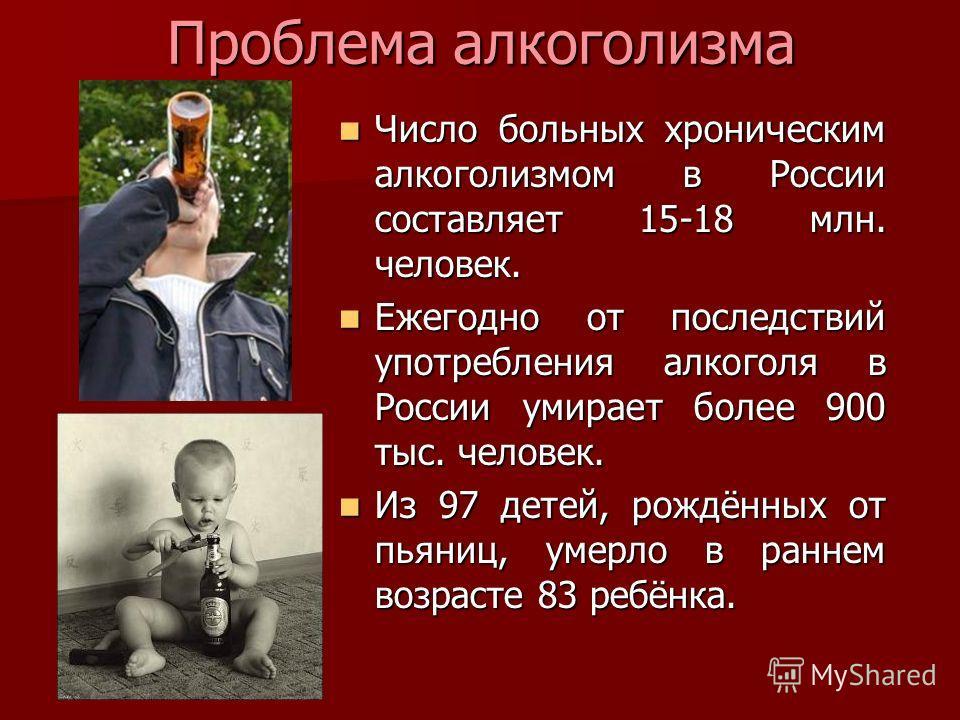 Сколько людей страдает от алкоголизма