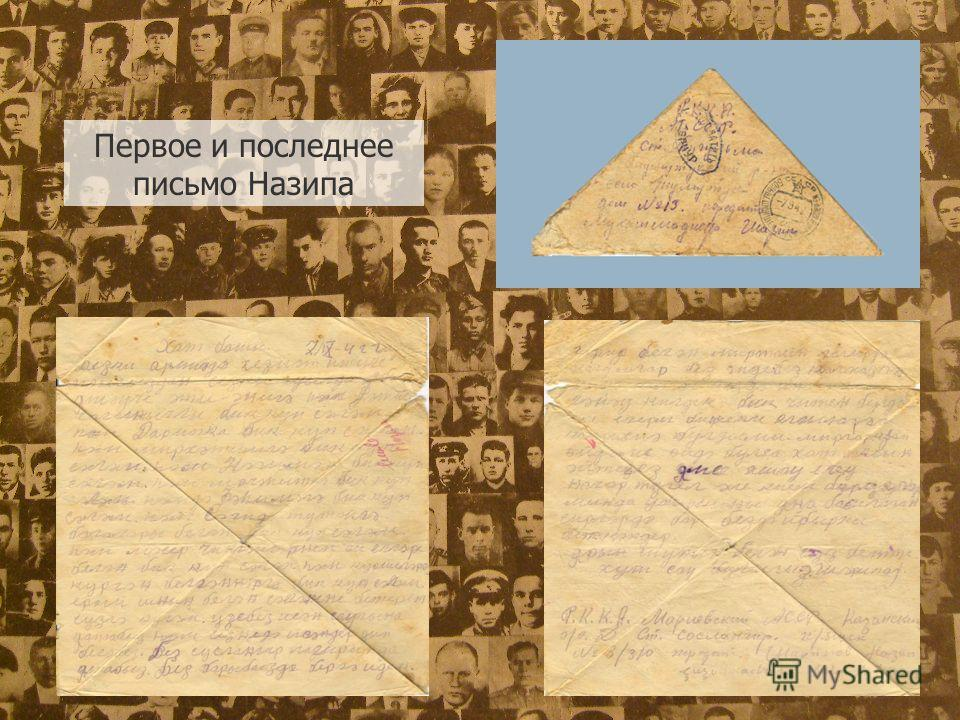 Первое и последнее письмо Назипа