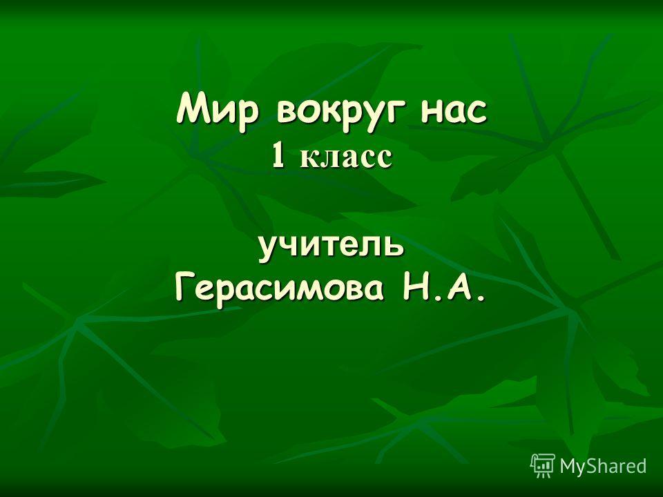 Мир вокруг нас 1 класс учитель Герасимова Н.А.
