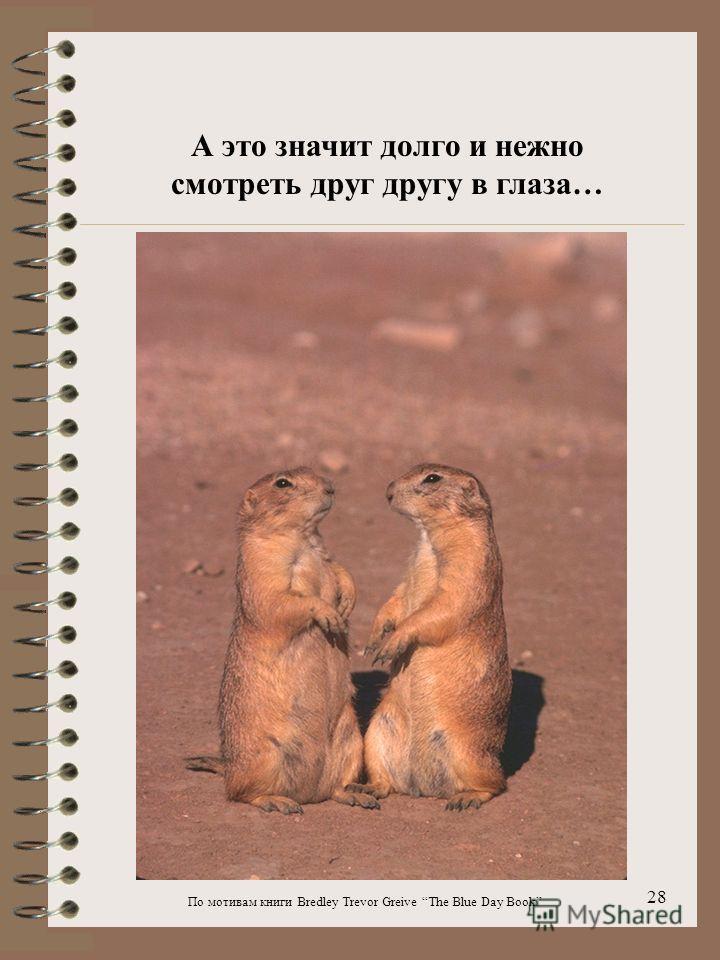 По мотивам книги Bredley Trevor Greive The Blue Day Book 28 А это значит долго и нежно смотреть друг другу в глаза…
