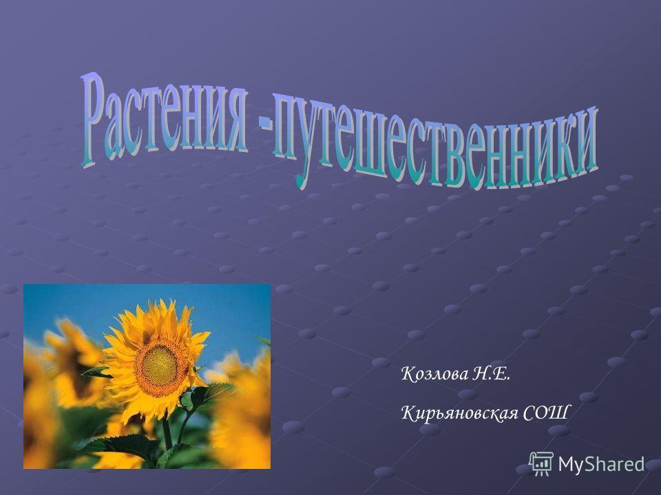Козлова Н.Е. Кирьяновская СОШ