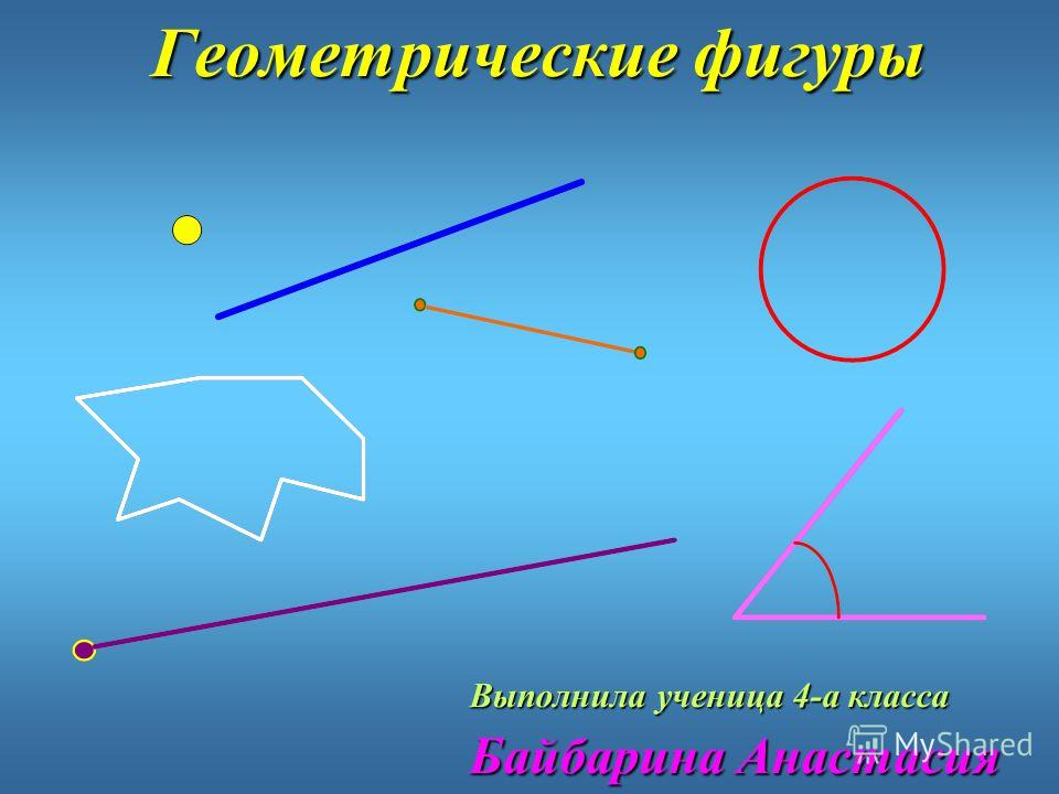 Геометрические фигуры Выполнила ученица 4-а класса Байбарина Анастасия