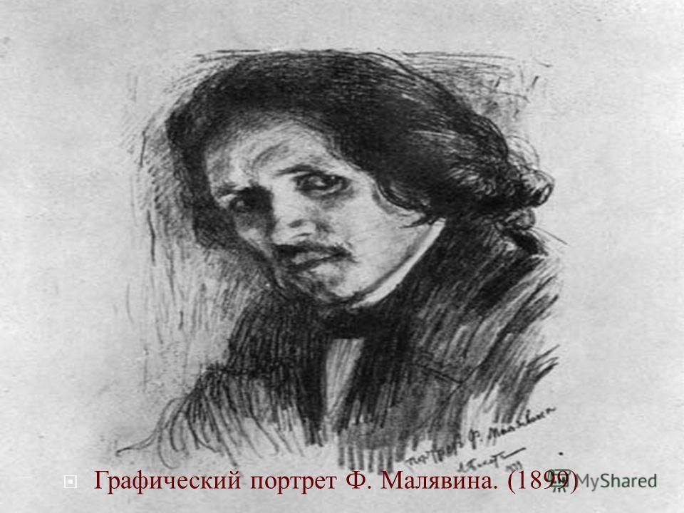 Графический портрет Ф. Малявина. (1899)