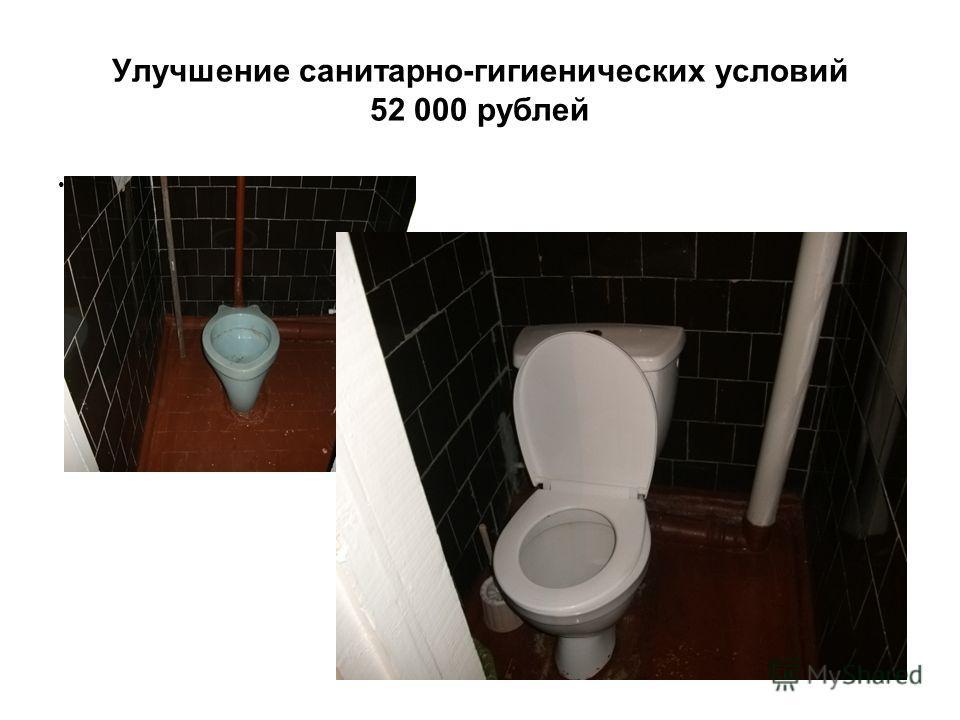 Улучшение санитарно-гигиенических условий 52 000 рублей До ремонта