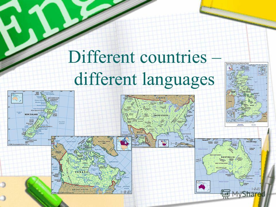 Different countries – different languages