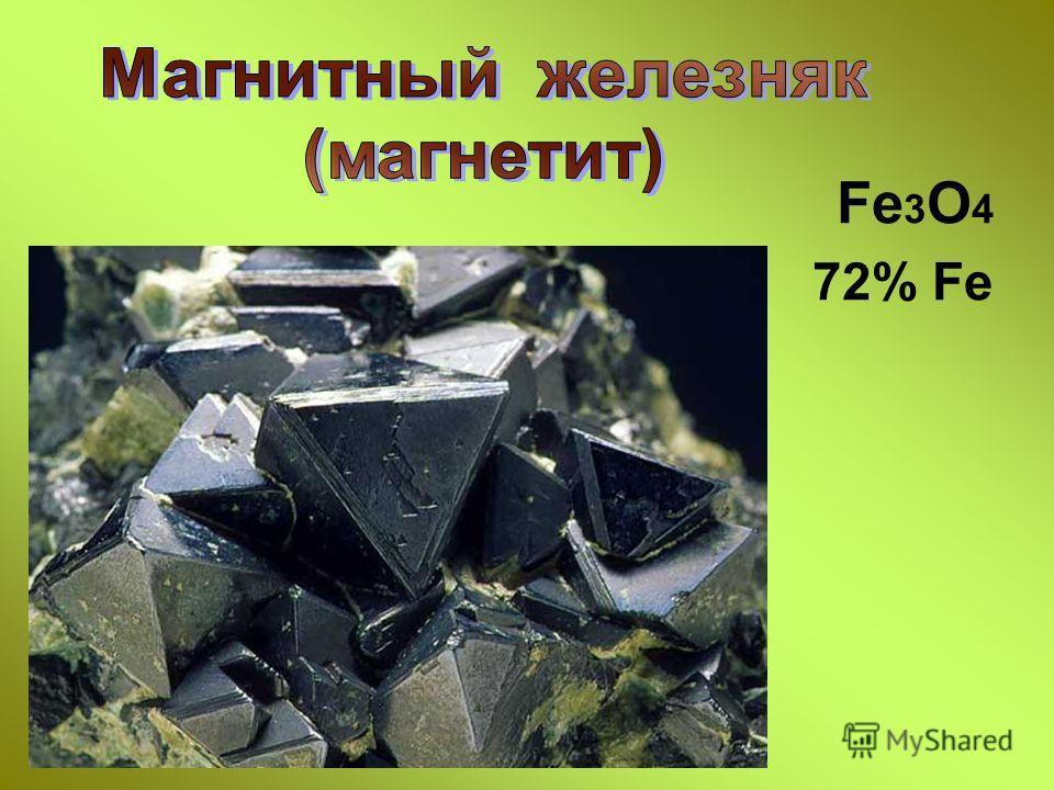 Fe 3 O 4 72% Fe