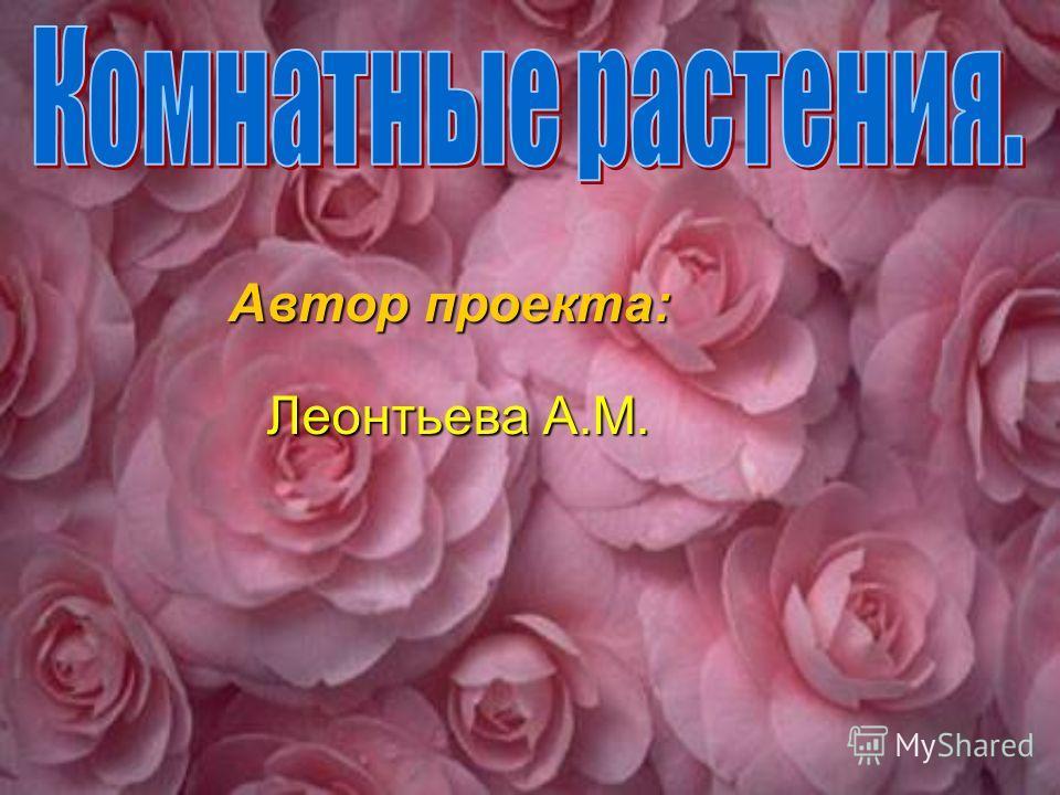 Автор проекта: Автор проекта: Леонтьева А.М. Леонтьева А.М.