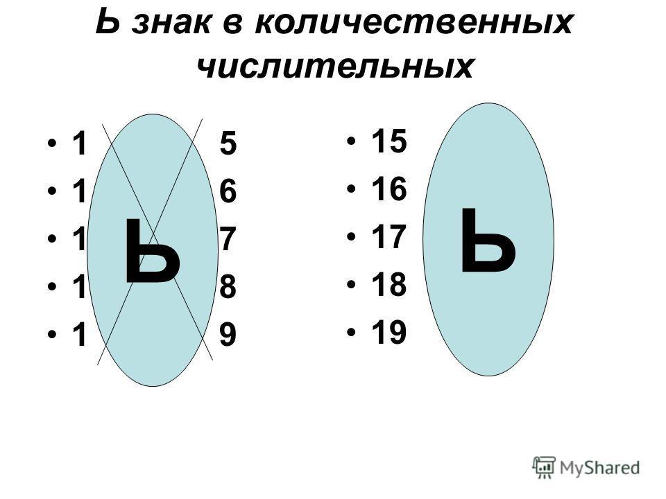 Ь знак в количественных числительных 1 5 1 6 1 7 1 8 1 9 15 16 17 18 19 Ь Ь