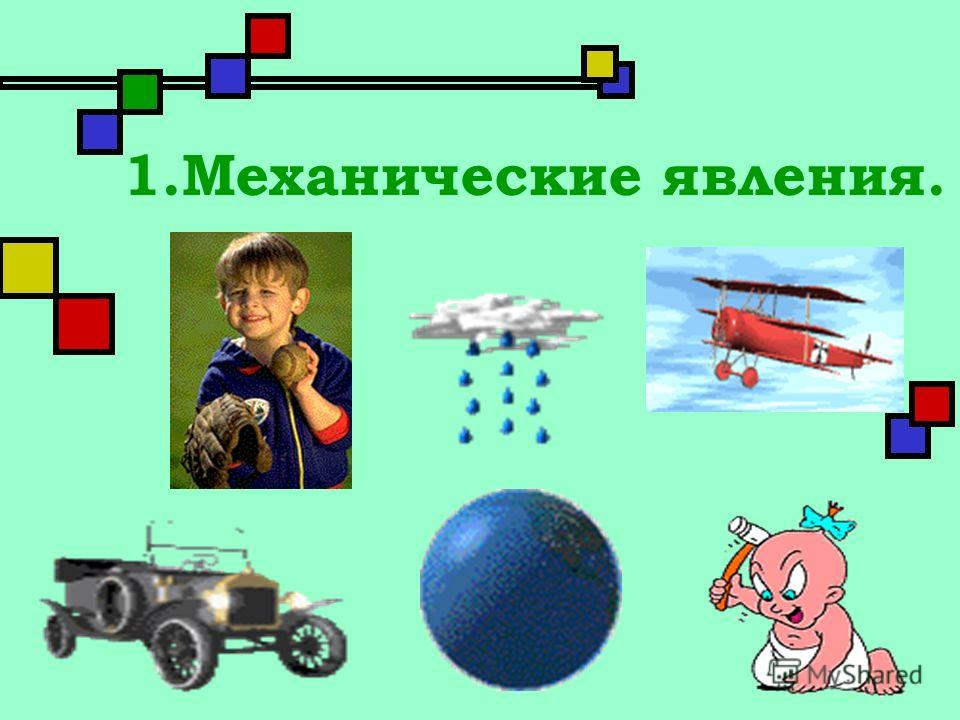 1.Механические явления.