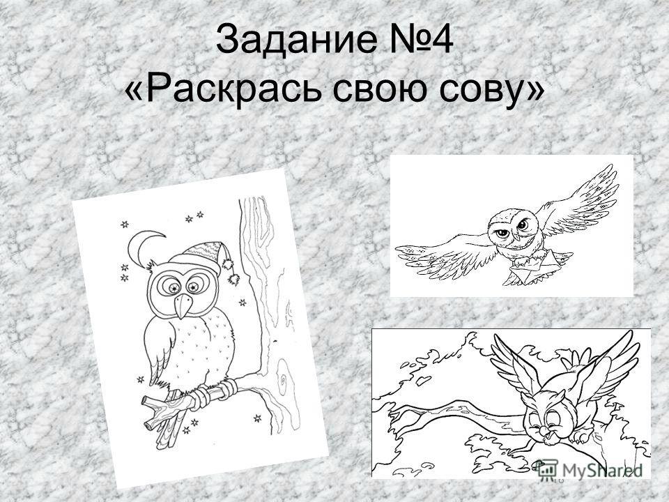 18 Задание 4 «Раскрась свою сову» 18