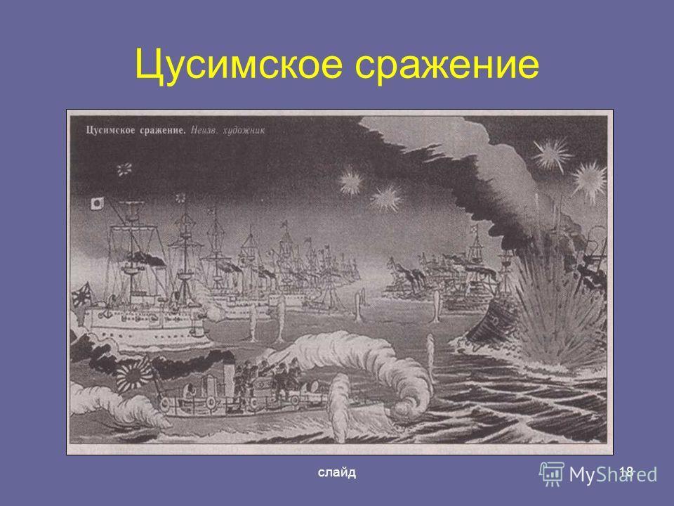 слайд18 Цусимское сражение