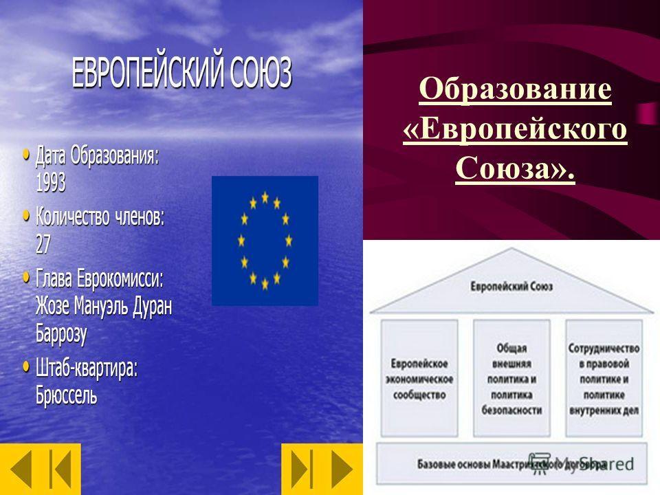 Образование «Европейского Союза».