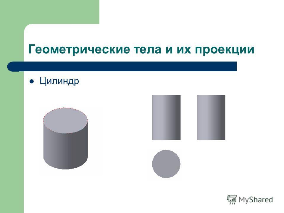 Геометрические тела и их проекции Цилиндр
