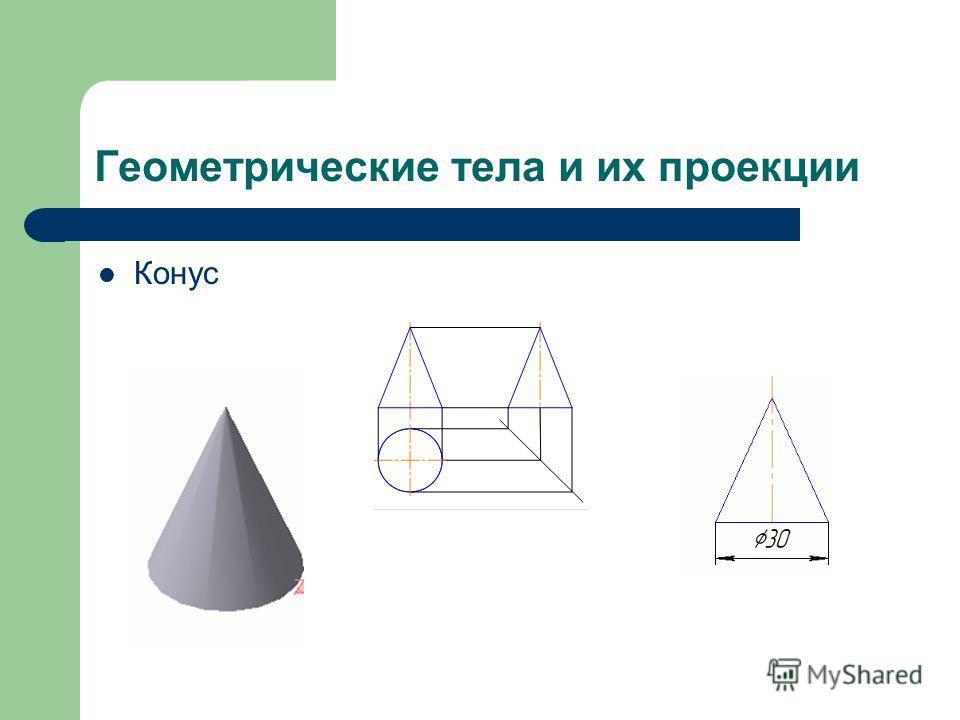 Геометрические тела и их проекции Конус
