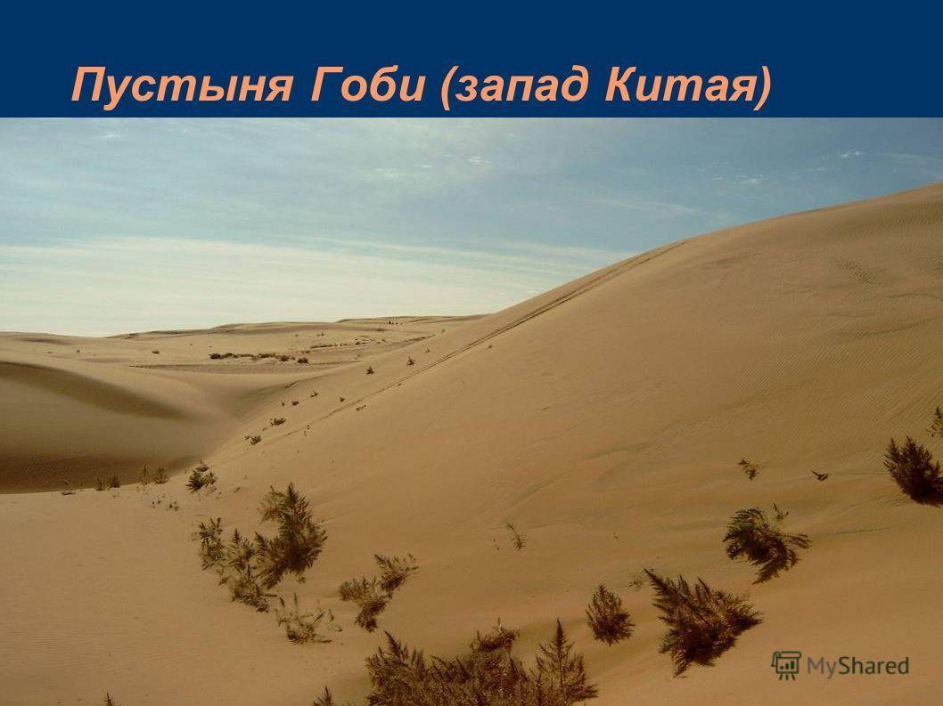 Пустыня Гоби (запад Китая)