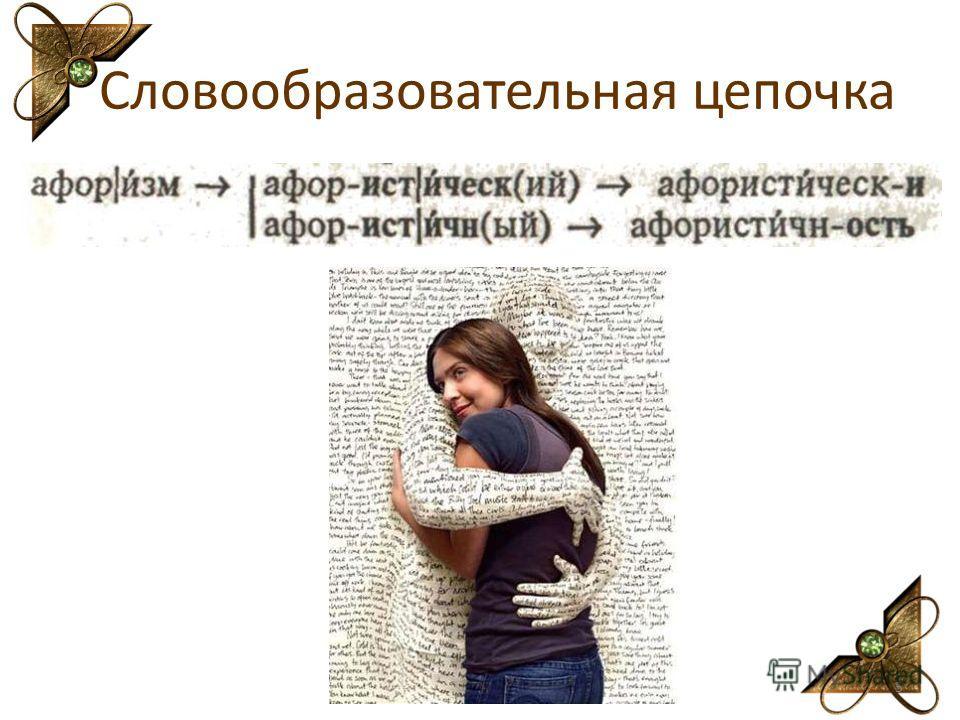 Словообразовательная цепочка 5