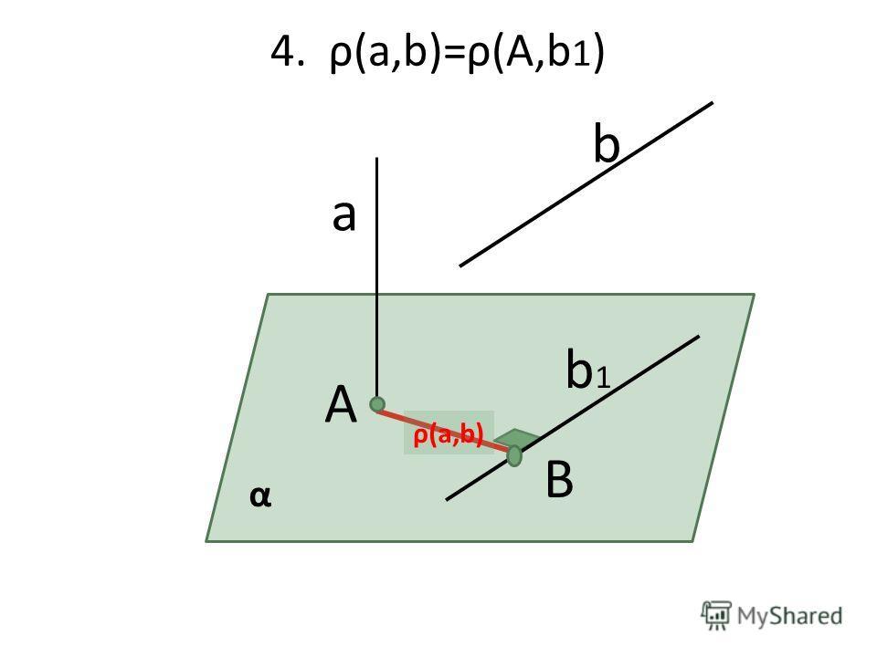4. ρ(а,b)=ρ(А,b 1 ) а А b b1b1 B α ρ(а,b)