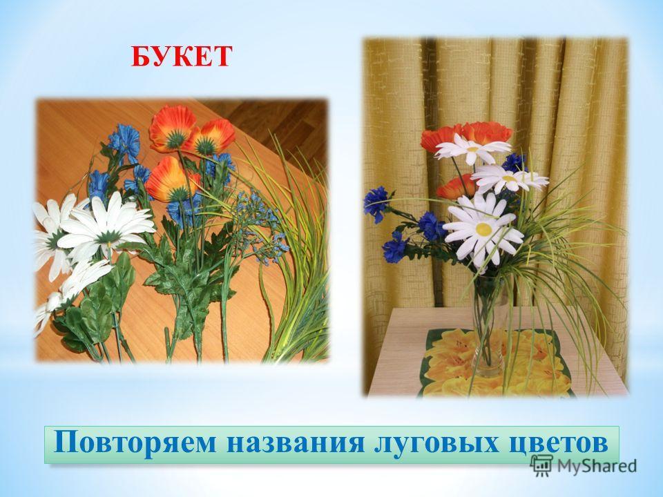 Повторяем названия луговых цветов БУКЕТ