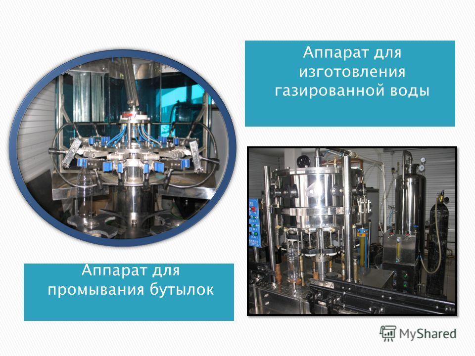 Аппарат для промывания бутылок Аппарат для изготовления газированной воды