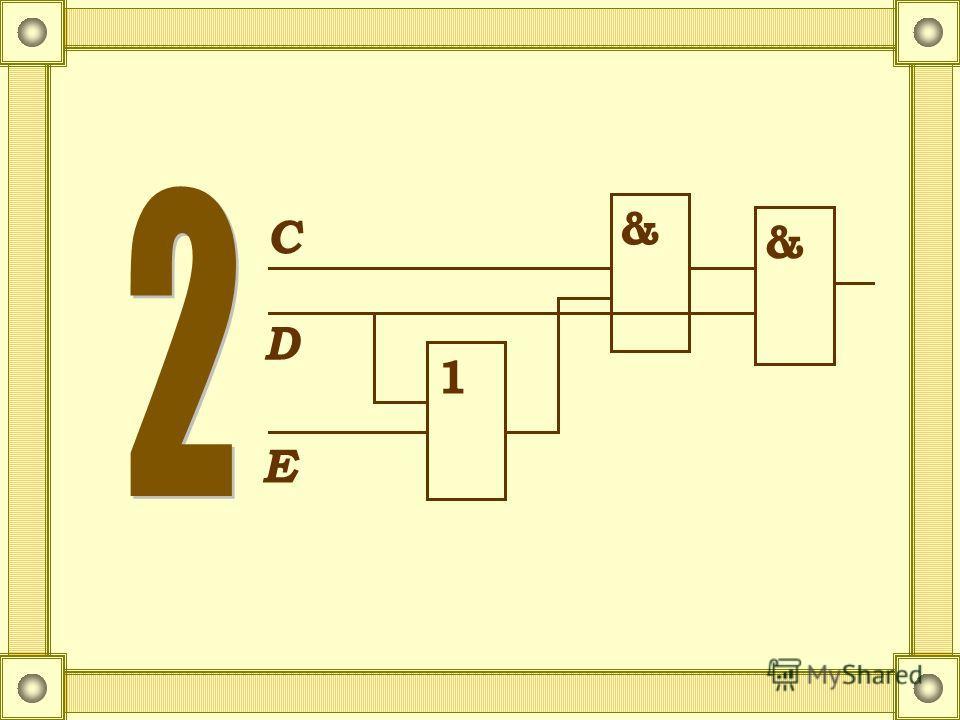 Функциональная схема функции С D E D 1 & 1 С D E & 1 & С D E