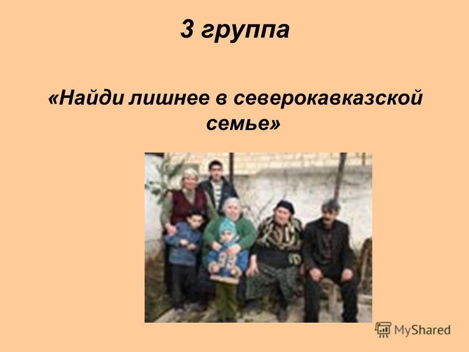 3 группа «Найди лишнее в северокавказской семье»