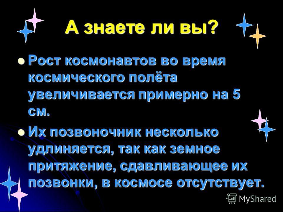 Известные и космонавты 123 4 5 6 7 8 9 10 11 Ю.Гагарин А. Леонов Герман Титов В.Терешкова Андриан Николаев