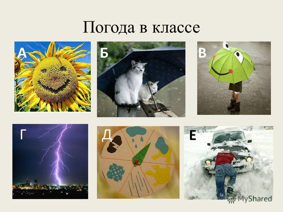 Погода в классе АБВ Е ДГ