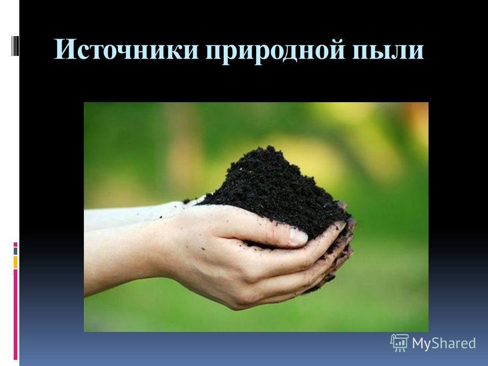 Источники природной пыли