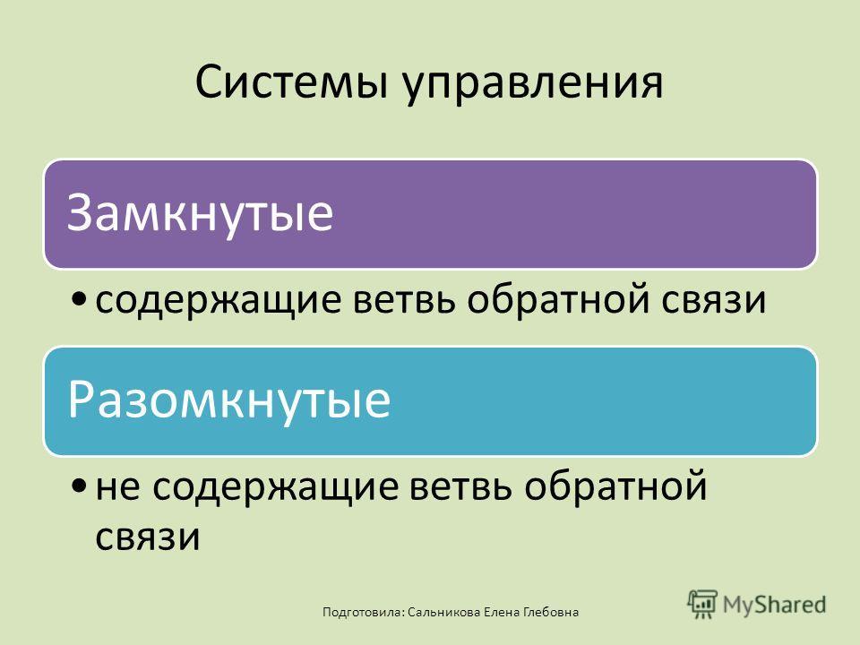 Системы управления