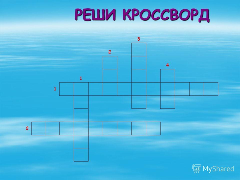 РЕШИ КРОССВОРД РЕШИ КРОССВОРД 2 1 1 4 2 3