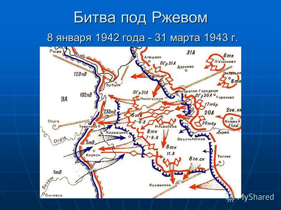 Битва под Ржевом 8 января 1942 года - 31 марта 1943 г.