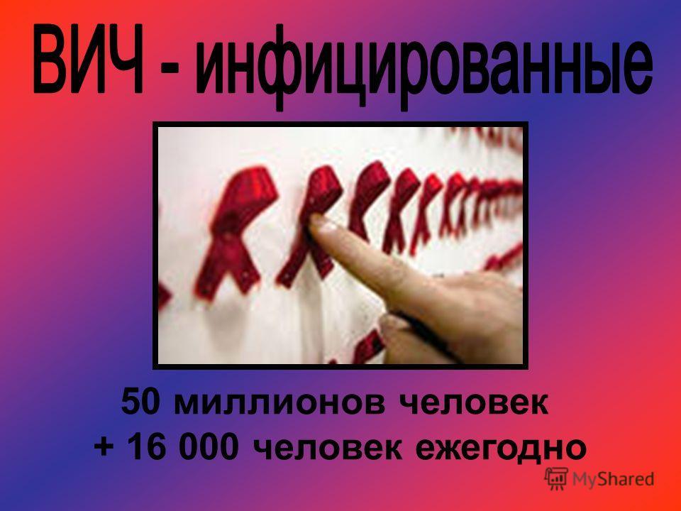 50 миллионов человек + 16 000 человек ежегодно