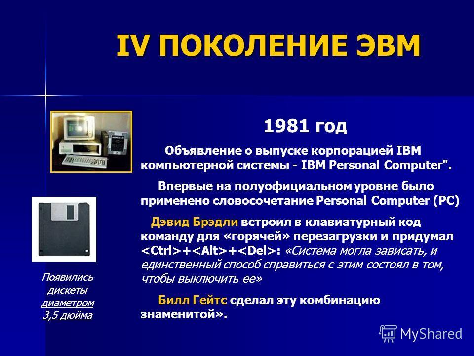 1981 год Объявление о выпуске корпорацией IBM компьютерной системы - IBM Personal Computer