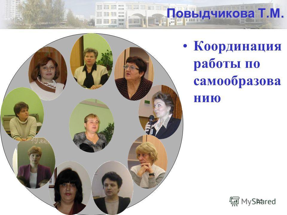 25 Повыдчикова Т.М. Координация работы по самообразова нию