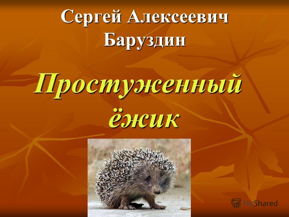 Сергей Алексеевич Баруздин Простуженный ёжик
