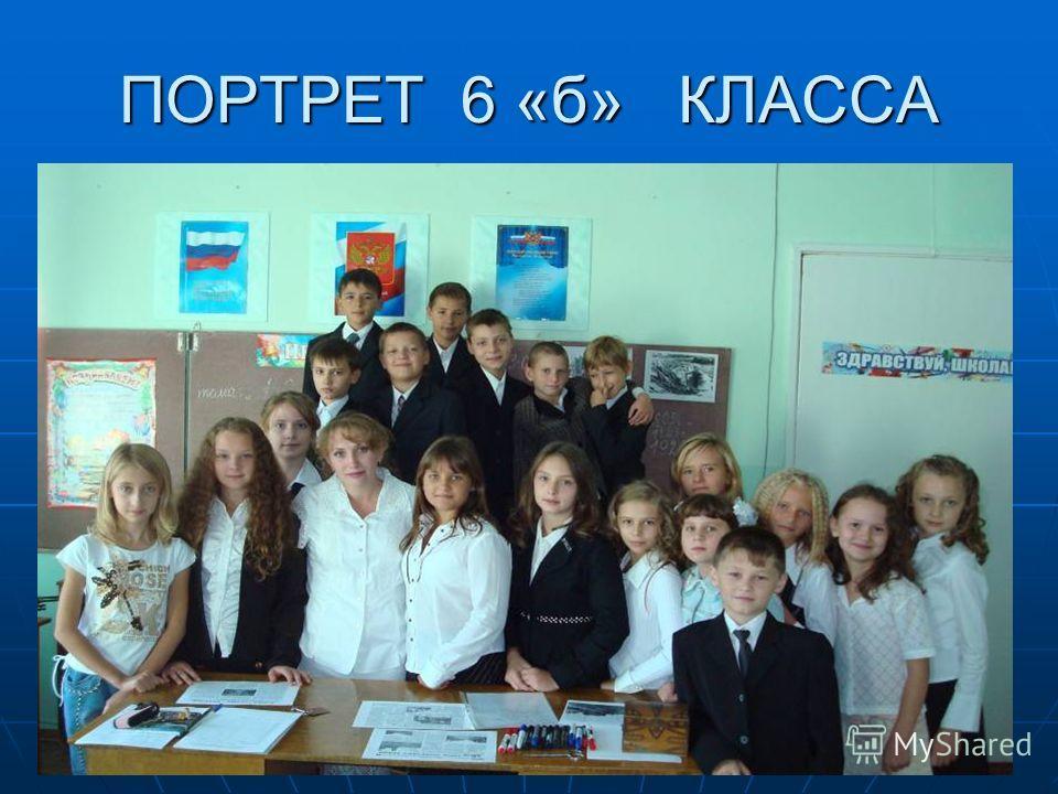 ПОРТРЕТ 6 «б» КЛАССА