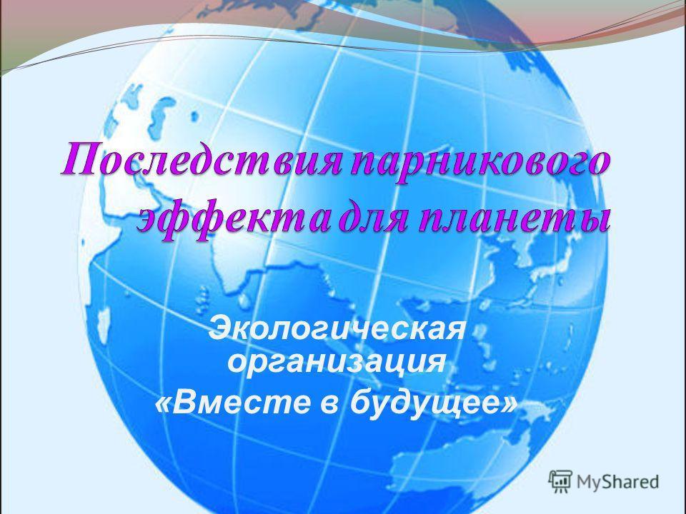 Экологическая организация «Вместе в будущее»