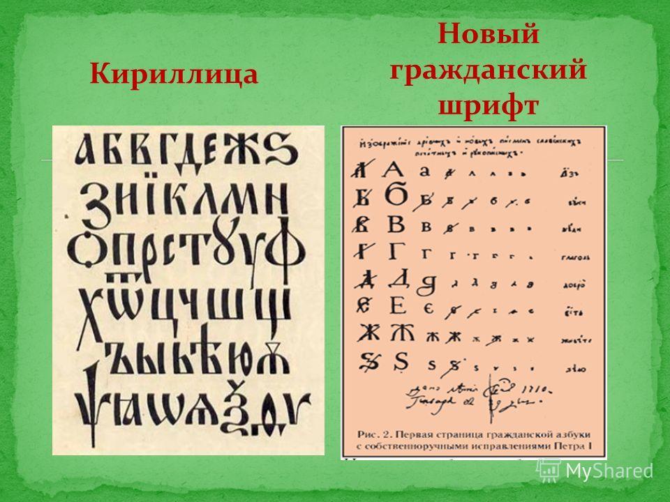 Кириллица Новый гражданский шрифт