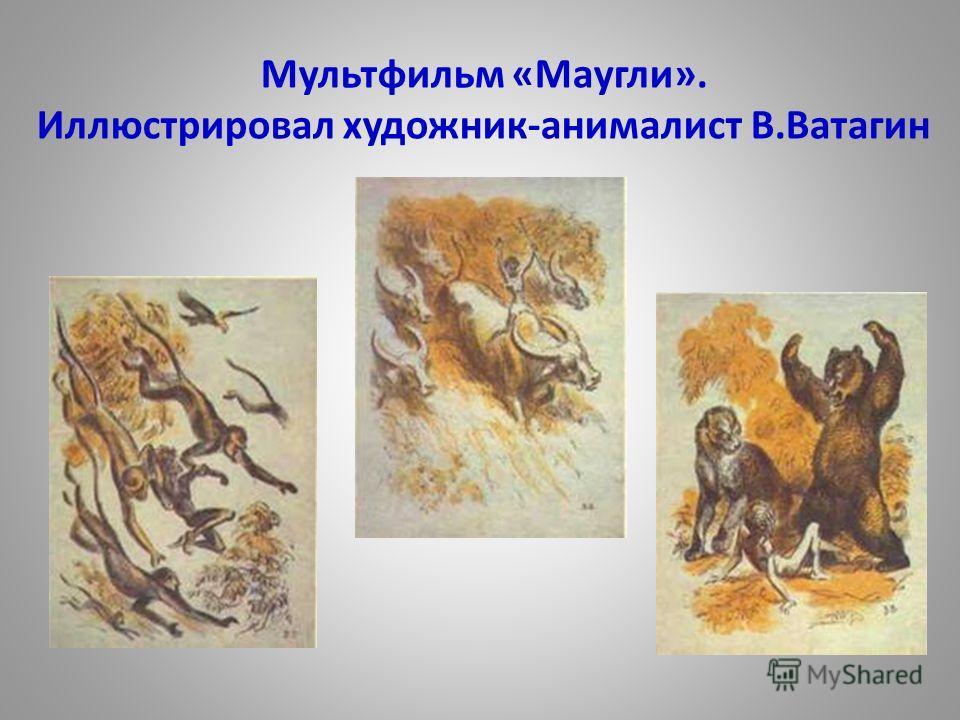 Мультфильм «Маугли». Иллюстрировал художник-анималист В.Ватагин